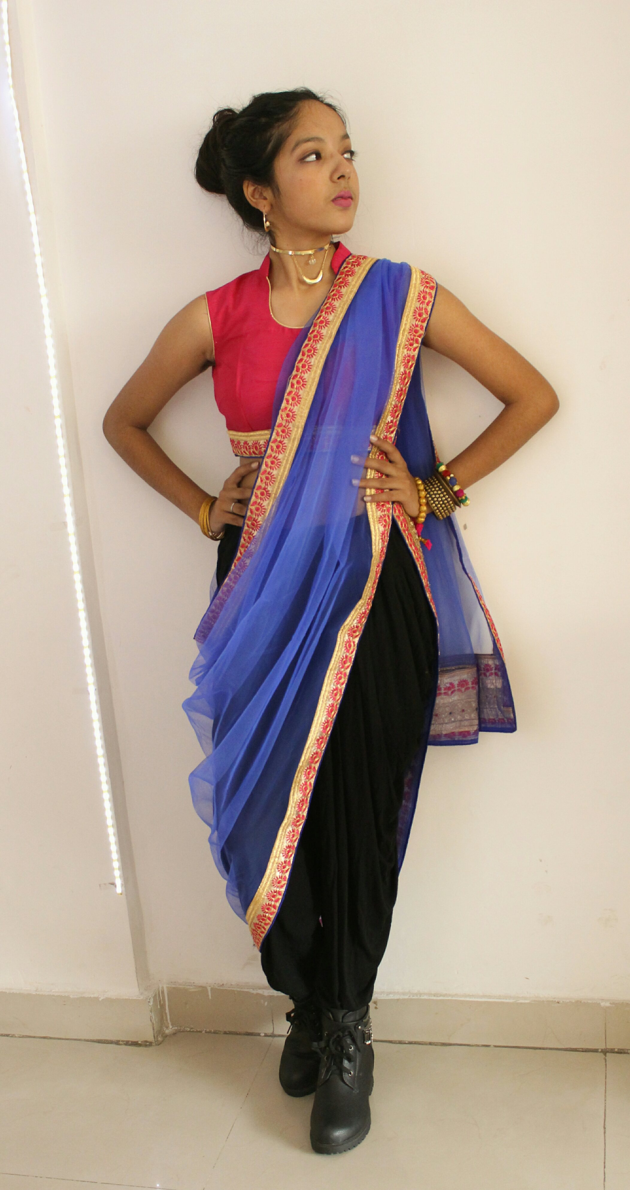 STEP UP YOUR FASHION GAME THIS DIWALI!(LOOK 1) image